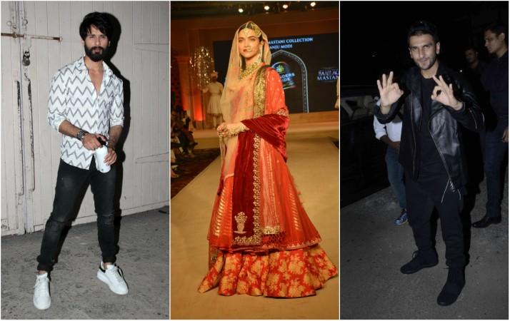Shahid Kapoor, Deepika Padukone, Ranveer Singh