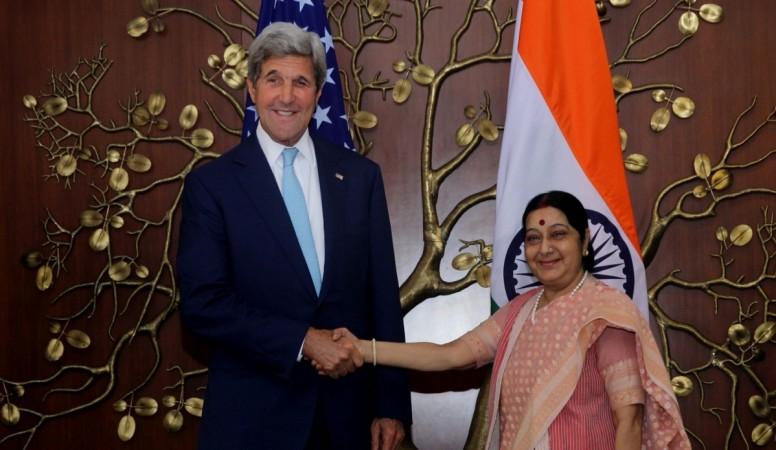Sushma Swaraj meets John Kerry