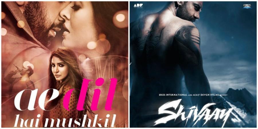 'Ae Dil Hai Mushkil'  'Shivaay' posters