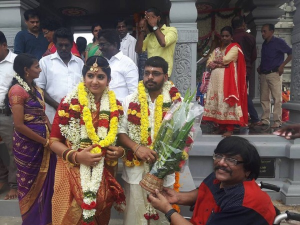 Raju Murugan and VJ Hema Sinha wedding photo