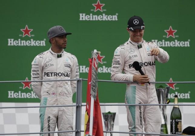 Lewis Hamilton Nico Rosberg Italian GP