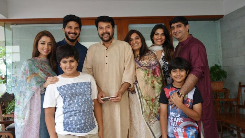 Mammootty with family