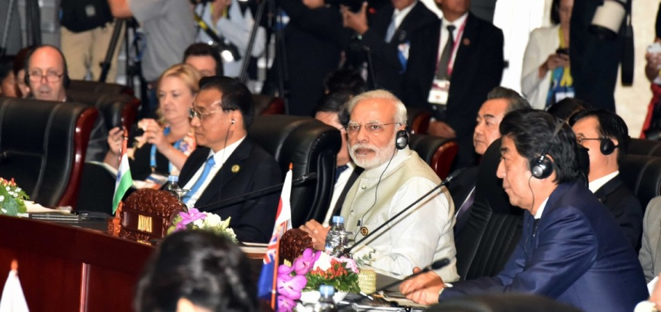 Prime Minister Narendra Modi participates in the 11th East Asia Summit at Vientiane in Laos on Sept. 8, 2016.