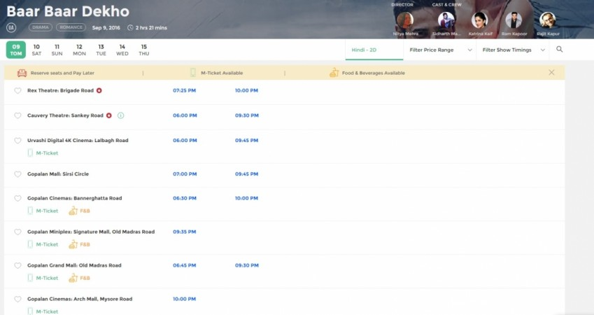 Bangalore bookmyshow