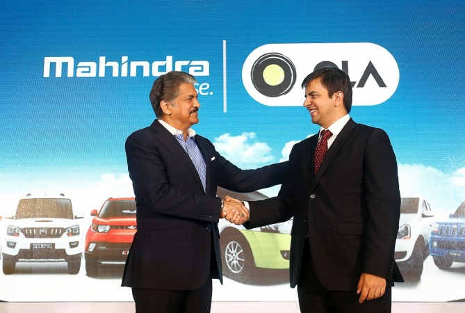 mahindra ola anand ceo tie up sales revenues business ola cab aggregators suv Bhavish Aggarwal car sales domestic