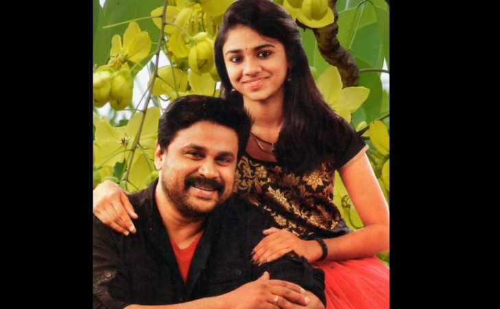 Dileep with his daughter Meenakshi