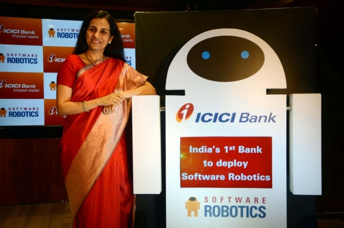 icici bank launch software robotics chanda ceo bank private lender
