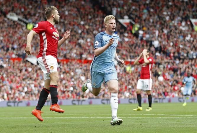 Kevin De Bruyne Manchester City Luke Shaw Manchester United