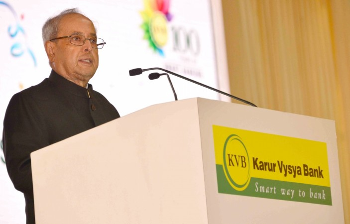 kvb pranab mukherjee bank loans npas centenary celebrations india banks private sector lender