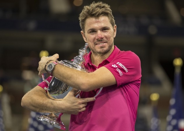 Stan Wawrinka US Open trophy