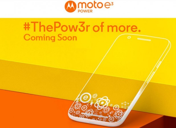 Moto E3 Power India release details officially revealed