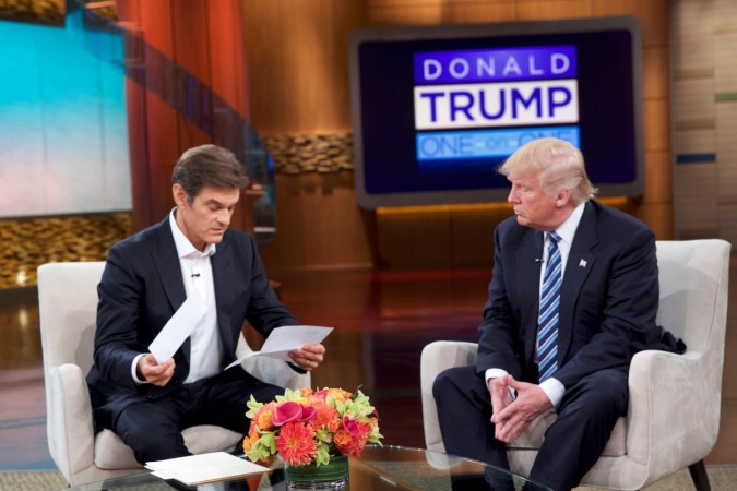 Donald Trump and Dr. Mehmet Oz