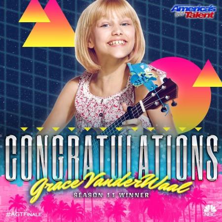 "Grace VanderWaal, the winner of ""America's Got Talent"" (2016) Season 11"