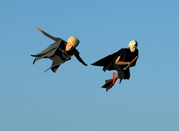 flying trump flying hillary
