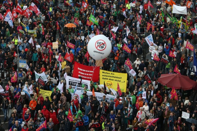 Germans protest TTIP and CETA