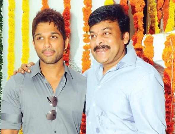 Allu Arjun and Chiranjeevi