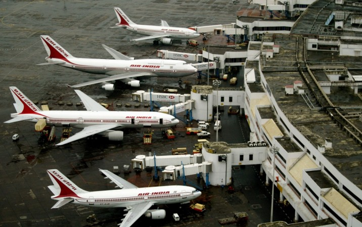 Air India planes parked