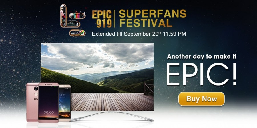 LeEco Epic 919 sale extended till Sept. 20