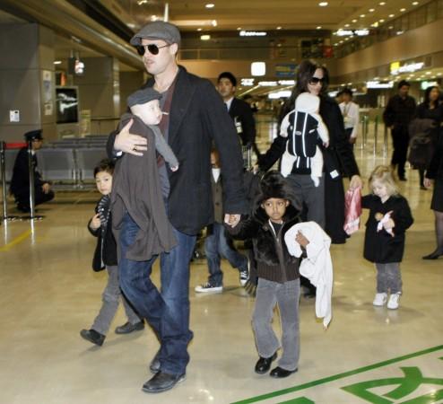 Brad Pitt and Angelina Jolie in 2009