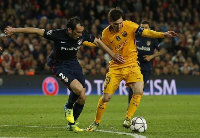 Diego Godin Atletico Madrid Lionel Messi Barcelona