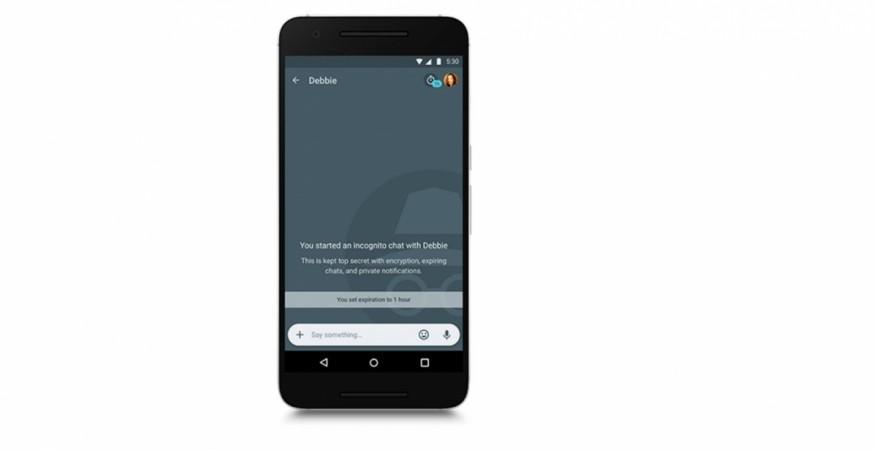 Google Allo: Incognito mode