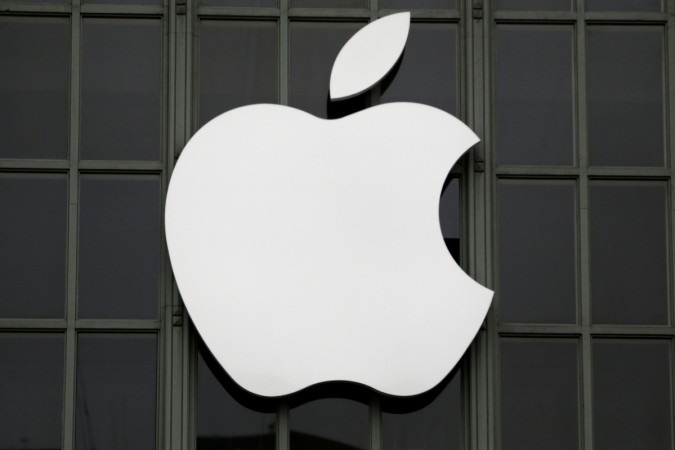 Apple Inc. logo is shown outside the company's 2016 WDC