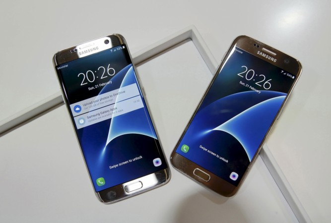 New Samsung Galaxy S7 (R) and S7 edge smartphones