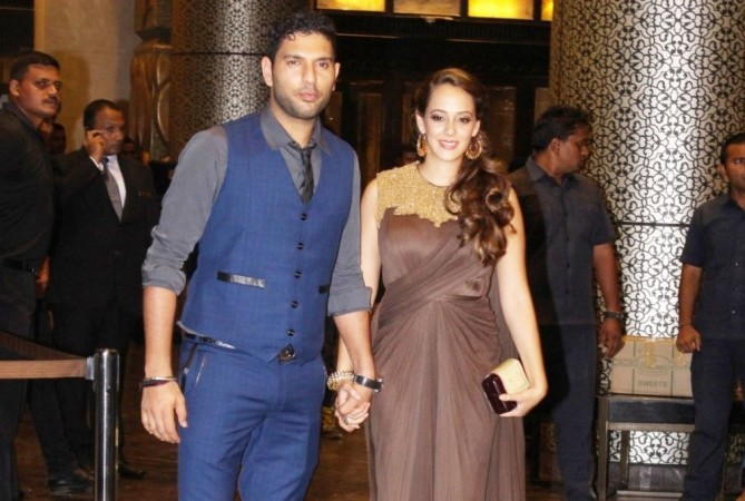 Here's all you need to know about Yuvraj Singh and Hazel Keech's wedding in December. Pictured: Yuvraj Singh and Hazel Keech at wedding reception of Preity Zinta and Gene Goodenough.