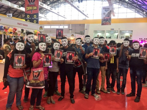 ISM at Hyderabad Comic Con: Fans pose with Kalyan Ram's mask