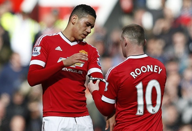 Chris Smalling Wayne Rooney Manchester United