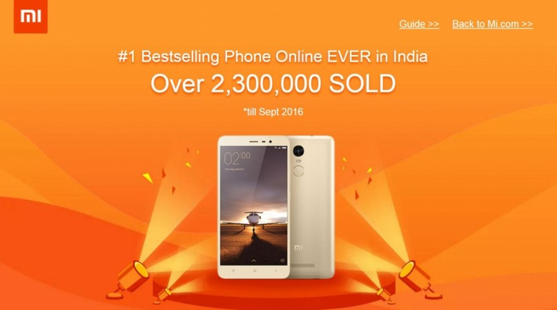 Xiaomi Redmi Note 3 becomes best selling smartphone online in India