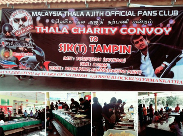 Thala Ajith's fans in Malaysia pitch in for a cause