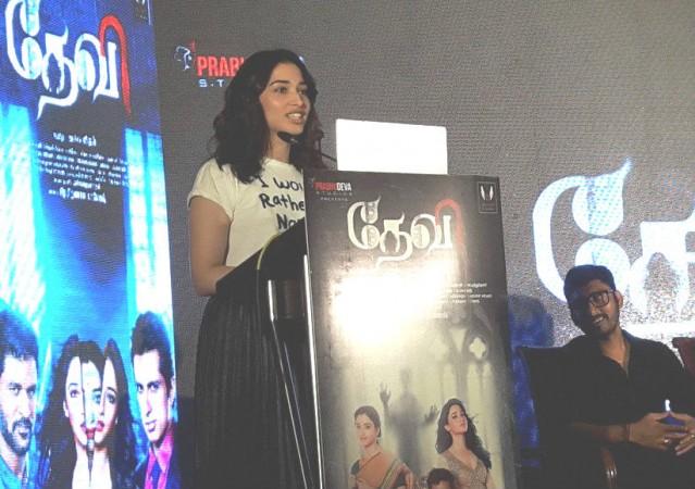 Tamannaah at Devi audio launch