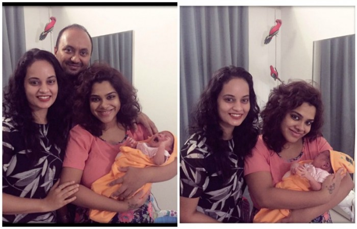 Suja with Sandhya family