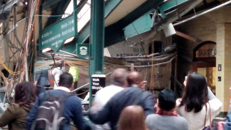 New Jersey Transit train derailed