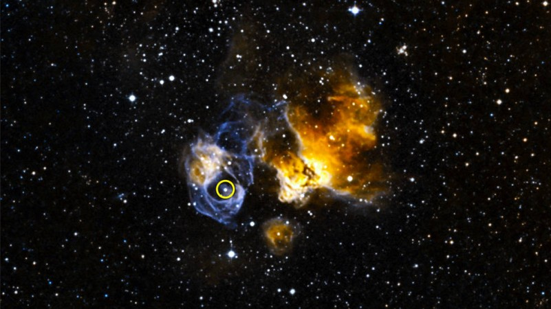 An image of LMC P3, the most luminous gamma-ray binary in another galaxy taken by Nasa's Fermi Gamma-ray Space Telescope.