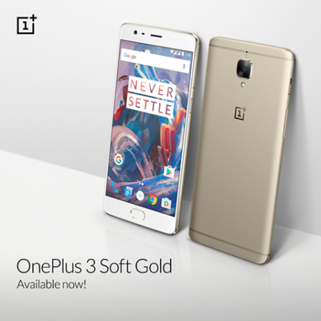 OnePlus 3 soft gold arrives as a Diwali present