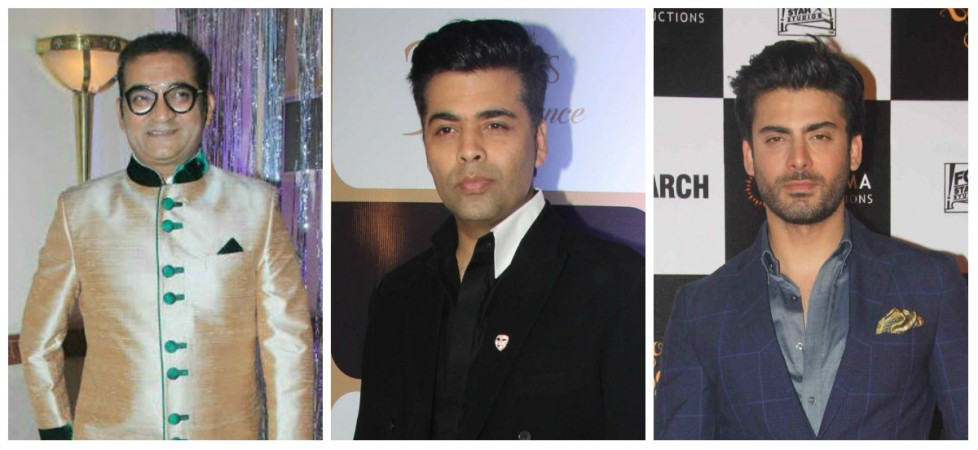 Abhijeet Bhattacharya, Karan Johar and Fawad Khan