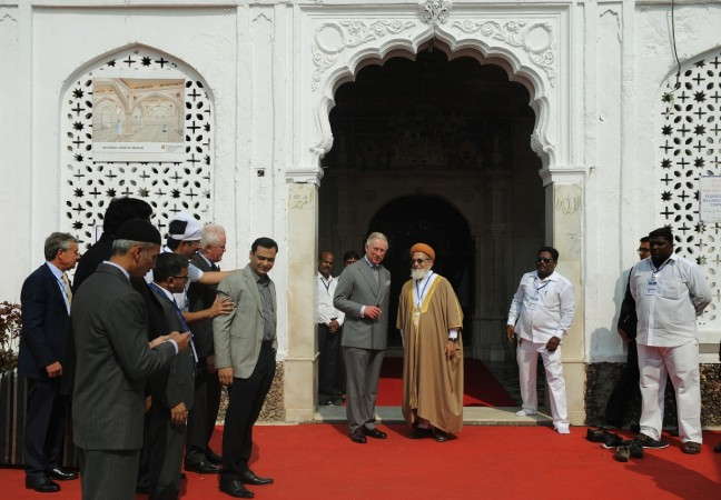 Britain's Prince Charles at the Haji Ali Shrine in Mumbai