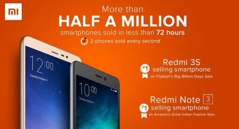 Xiaomi sells more than 500,000 smartphones in three days