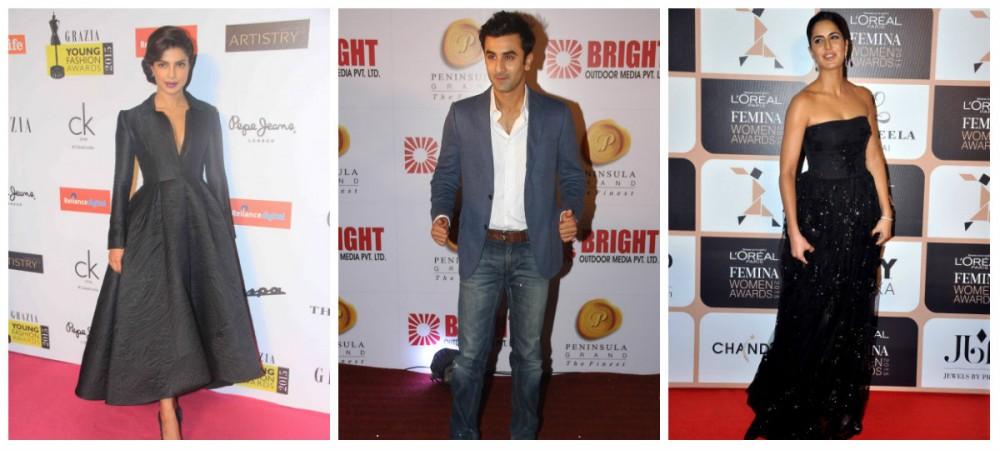 Priyanka Chopra, Ranbir Kapoor and Katrina Kaif