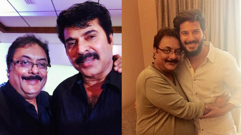 Pratap Pothen with Mammootty and Dulquer Salmaan