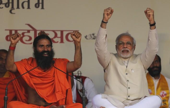 Baba Ramdev with Prime Minister Narendra Modi
