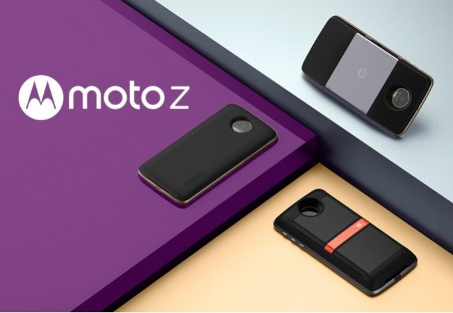 Motorola's Moto Z as seen on the company's website