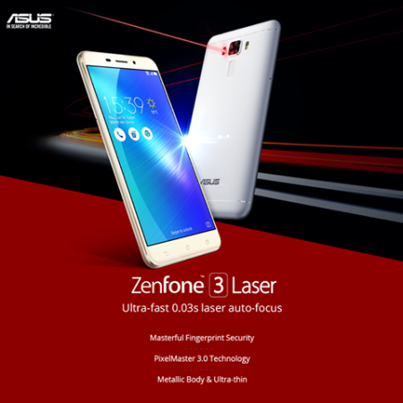 Asus Zenfone 3 Laser available on Flipkart