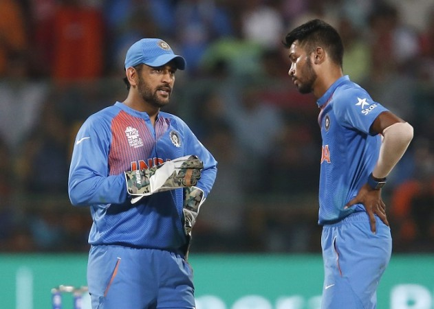 MS Dhoni, Hardik Pandya, India