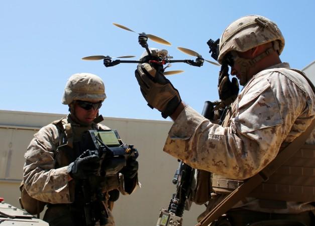 U.S. Marines deploy a Grp I UAS : Instant Eye drone