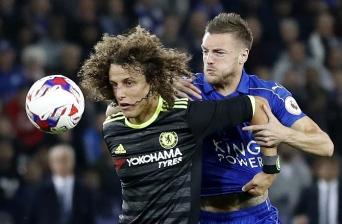 David Luiz Chelsea Jamie Vardy Leicester City