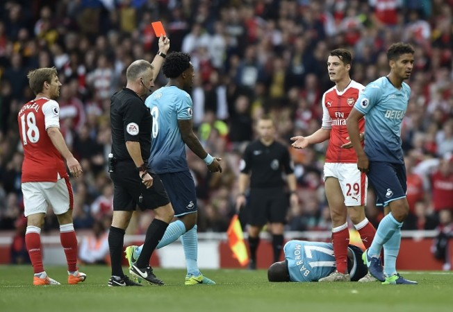 Granit Xhaka Arsenal red card Jon Moss