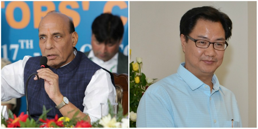 Rajnath Singh and Kiren Rijiju